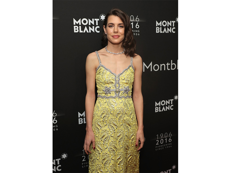Mont Blanc Charlotte Casiraghi wearing Mont Blanc at the Montblanc 110th anniversary gala dinner in New York