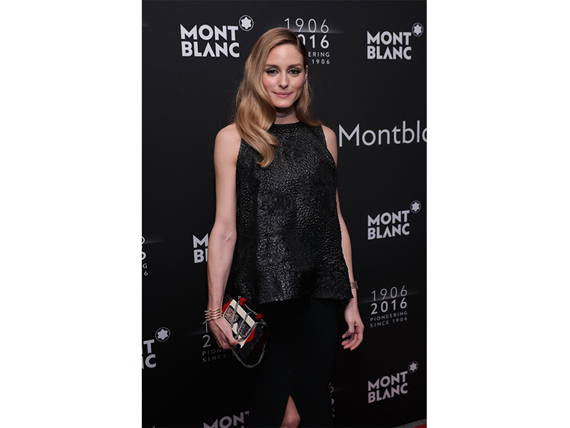 Mont Blanc Olivia Palermo wearing Mont Blanc at the Montblanc 110th anniversary gala dinner in New York