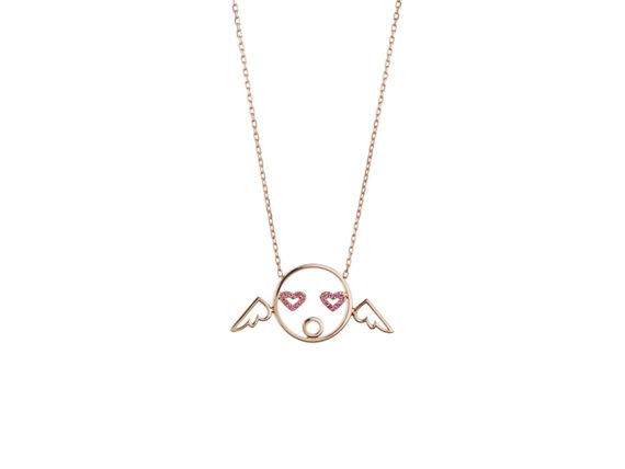 Ruifier - Visage Moyen Cupid Pendant Rose