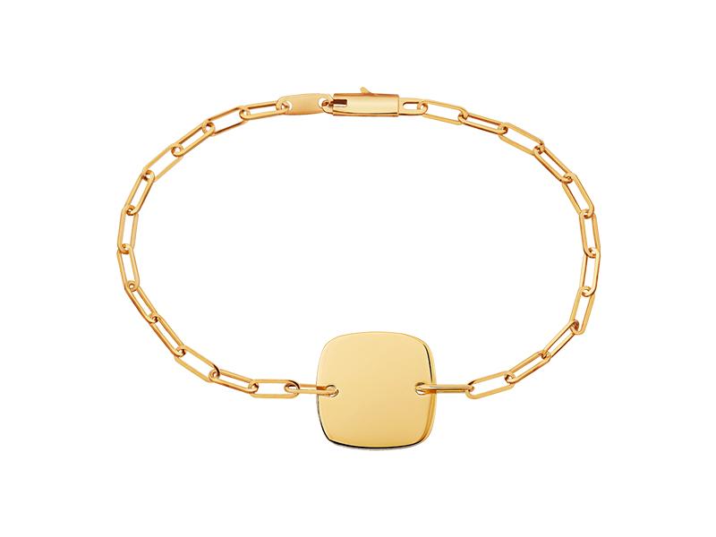 Dinh Van Yellow gold Square Tag bracelet