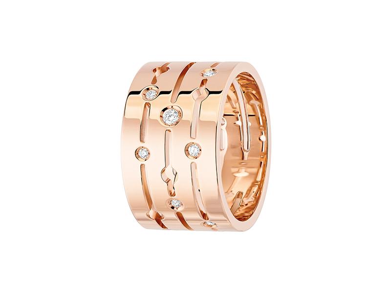 Dinh Van Rose gold Pulse large ring