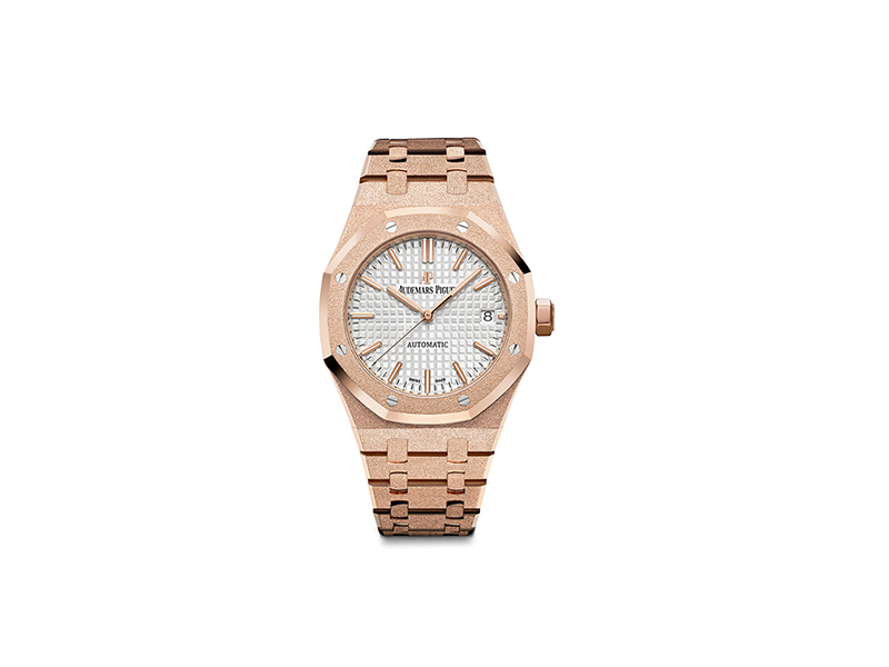 Audemars Piguet Royal Oak frosted in rose gold watch