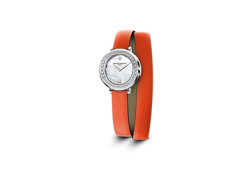 Baume et Mercier Petite Promesse watch orange