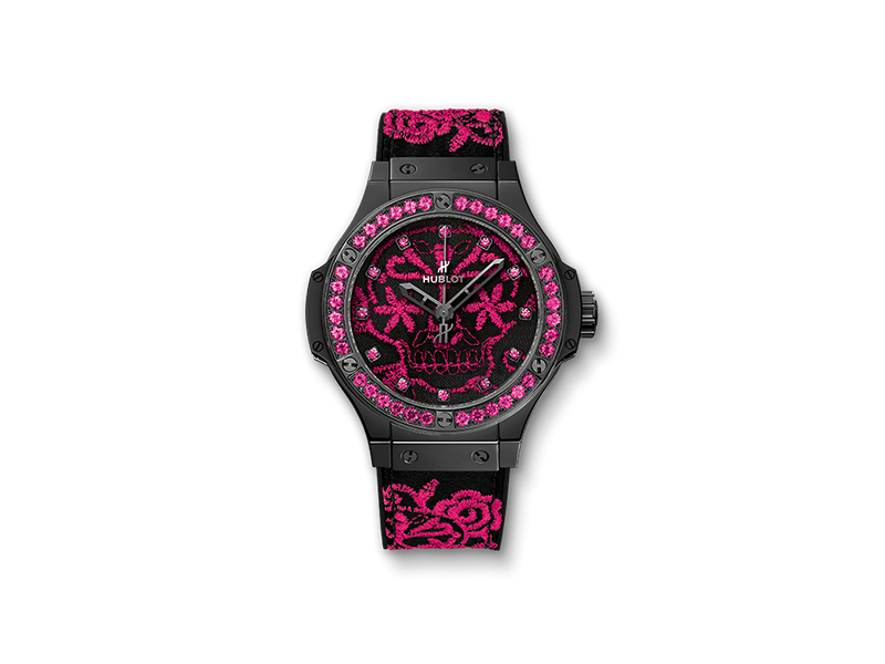 Hublot Big Bang pink Broderie Fluo Skull (100 pieces)