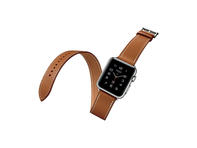 Hermès Apple watch with leather double strap