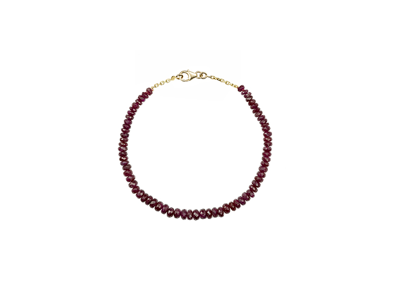 Rivka Nahmias Bracelet mounted on yellow gold with ruby from Chakras collection