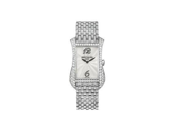 Patek Philippe Gondolo mounted on grey gold with diamonds