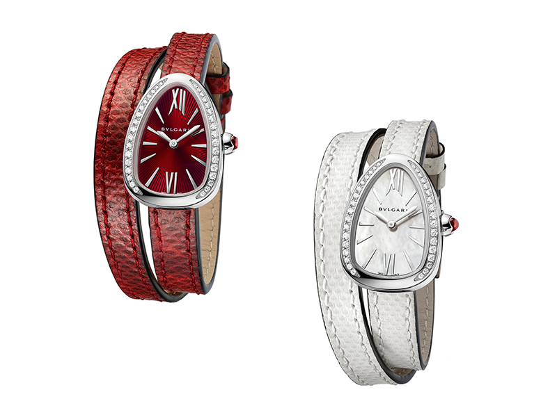 Bulgari New Serpenti with double strap watch