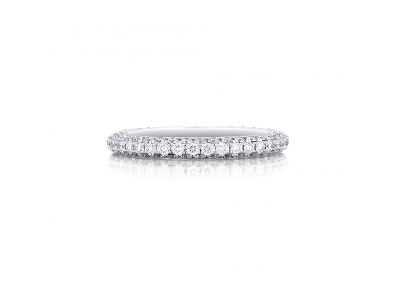 De Beers DB Darling engagement ring mounted on white gold with diamonds