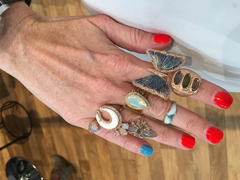 Jacquie Aiche Rings mounted on rose gold