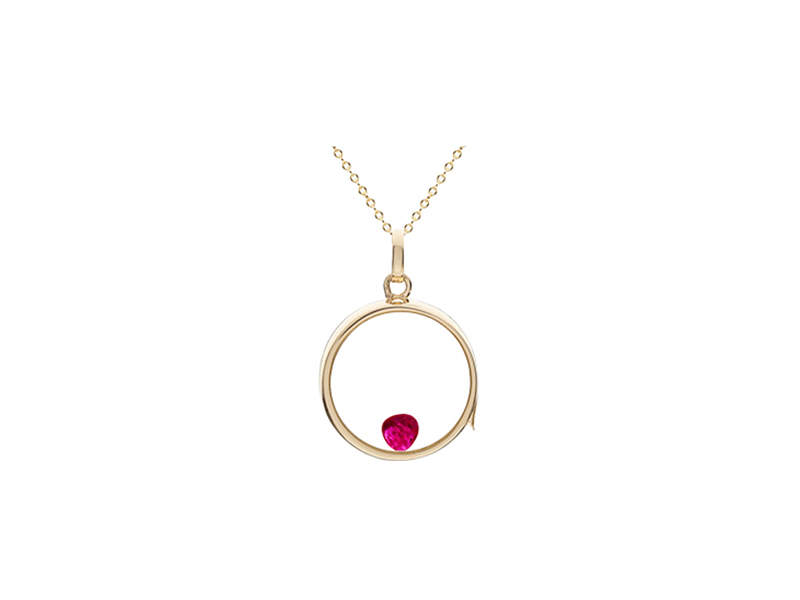 Loquet July ruby necklace
