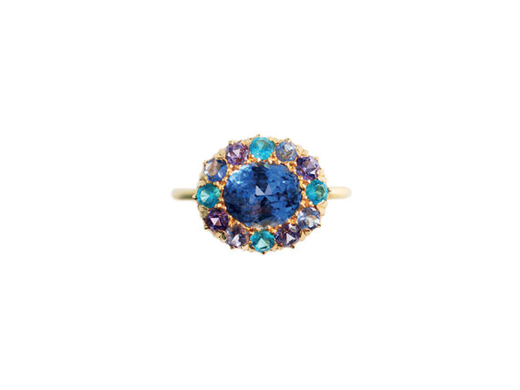 Marie Hélène de Taillac Princess D. Sapphire ring