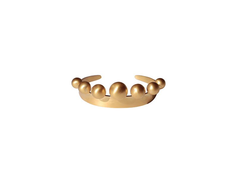 Marie Hélène de Taillac Couronne Cuff mounted on yellow gold