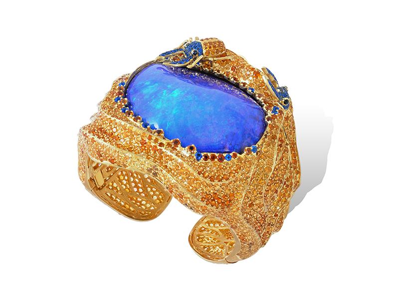 Lydia Courteille Blue Opal Bracelet