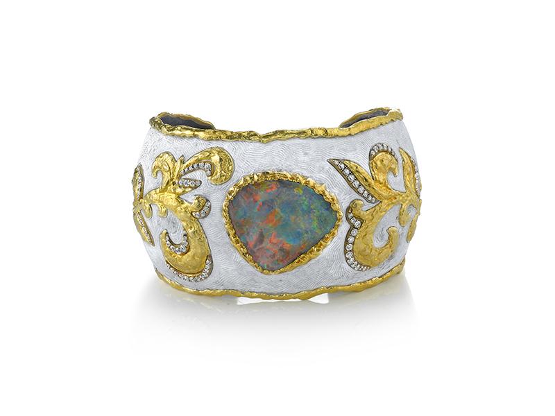 Victor Veylan Opal Cuff Bracelet