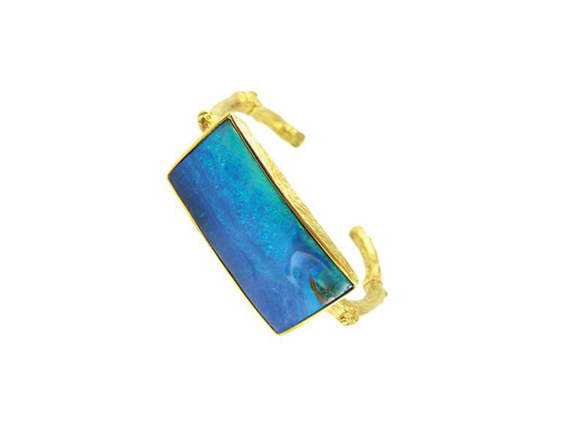 K. Brunini Blue Rectangle Opal Cuff