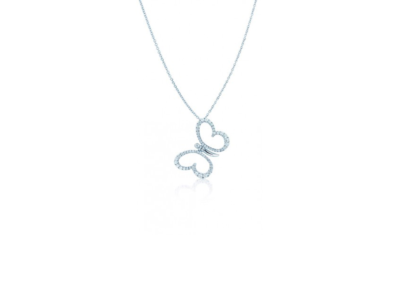 Birks Butterfly Shaped Diamond Pendant mounted on white gold with diamond, 2,495 $