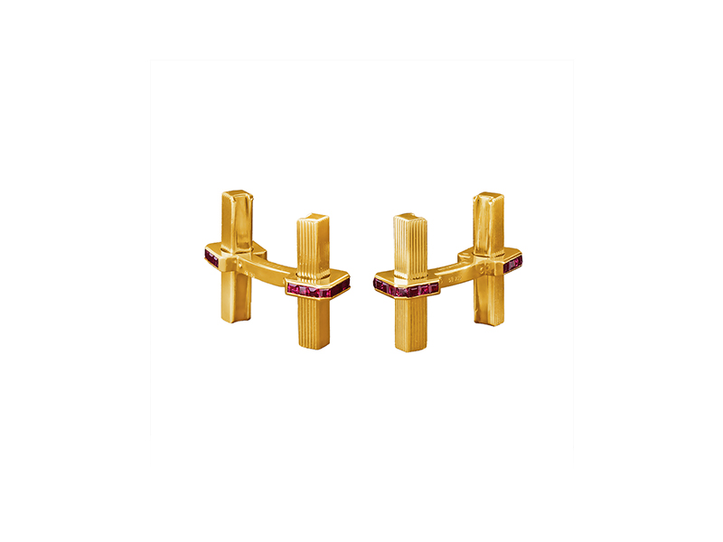 Boucheron Gold and Ruby Cufflinks