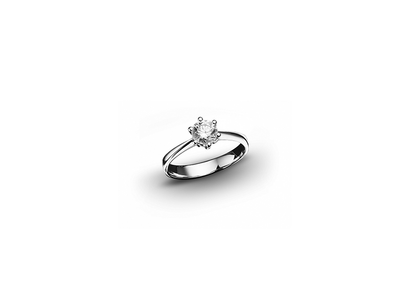 Bucherer Solitaire ring white gold brilliant diamond