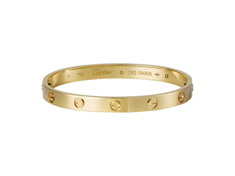 Cartier Love bracelet mounted on yellow gold