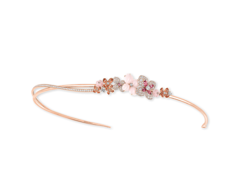 Chaumet Hortensia headband in rose gold - 36000 €