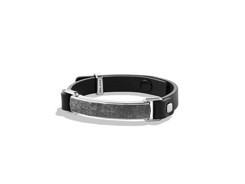 David Yurman Meteorite Leather ID Bracelet 1800 $