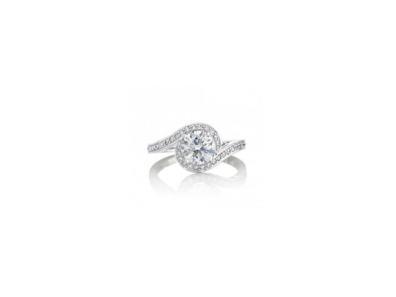 De Beers Caress Diamond Engagement ring - 8350 €