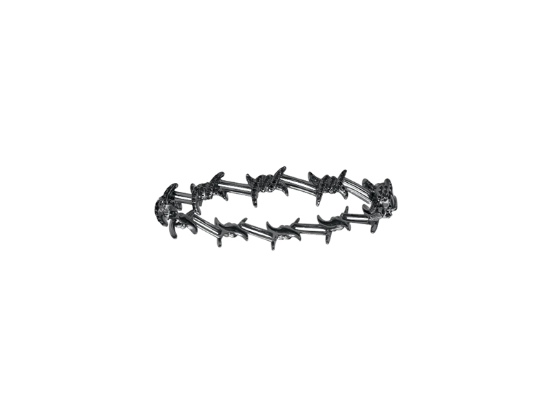 Djula Barbed wire mix gold and black diamonds 8394 $