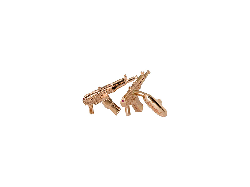 "Dmitry Gourji ""Legendary Machines"" 18K Gold Kalashnikov Cufflinks - 3450 $"