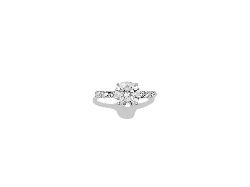 David Yurman Unity engagement ring in platinium