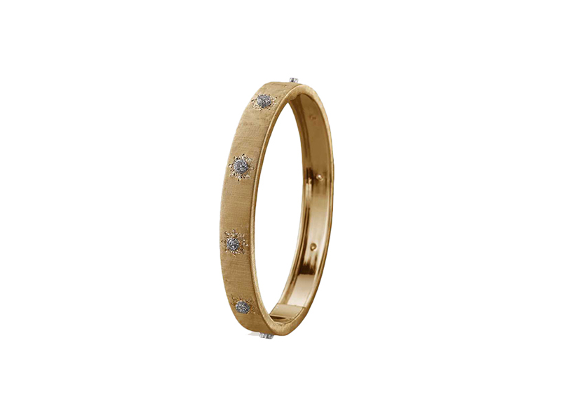 Buccellati From Classica collection mounted on yellow gold  with diamonds