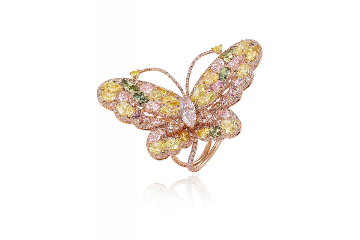 butterfly rings parshva ring dramatic flying jewels