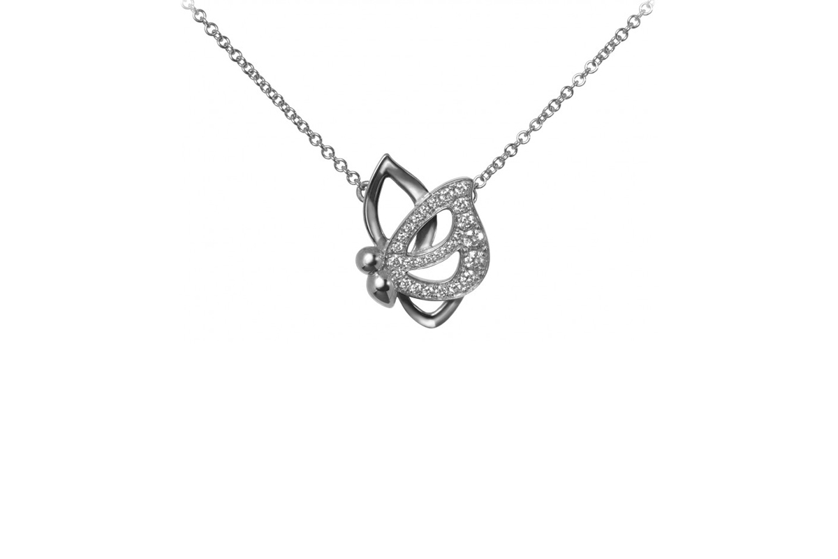 Vanessa Martinelli Vola Via Pendant mounted on white gold 18kt and diamonds