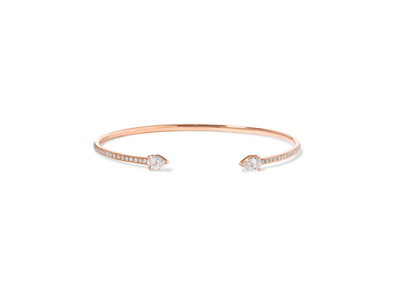 Anita Ko Double pear 18 karat rose gold diamond cuff - 10967 €