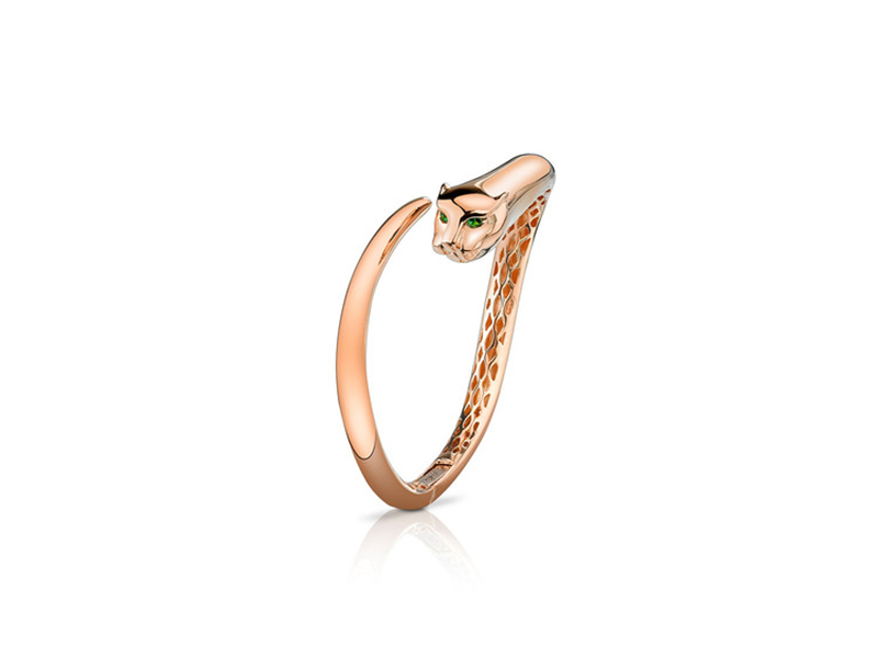 Anita Ko Panther bangle rose gold & green tsavorite eyes - 7875 $