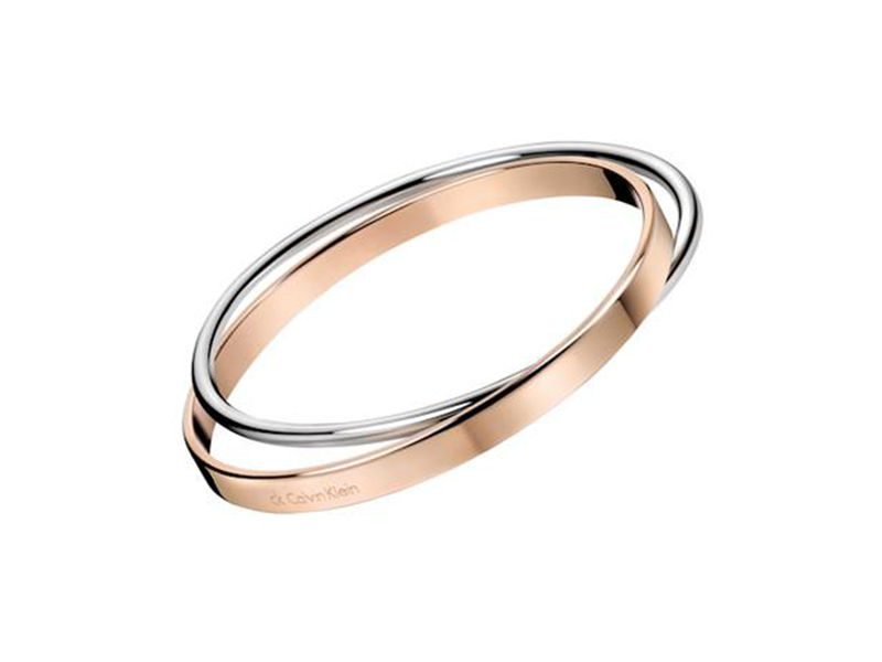 Calvin Klein stainless steel & rose gold bangle 95€