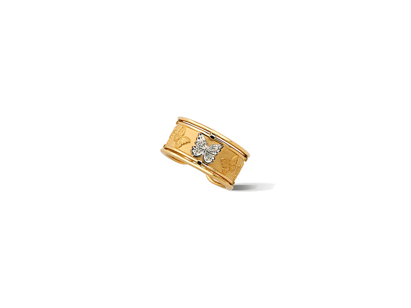 Carrera y carrera Clasicos collection Baile de mariposas rond ring yellow gold & diamonds