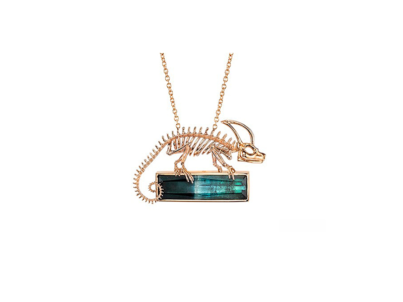 Daniela Villegas From Rebirth collection, Chameleon necklace