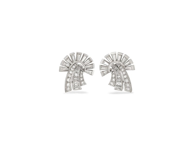 Fred Leighton earrings mounted on platine with diamonds - 11332 €