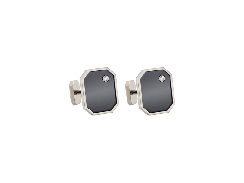 Harry Winston Zalium cufflinks mounted on white gold and zalium