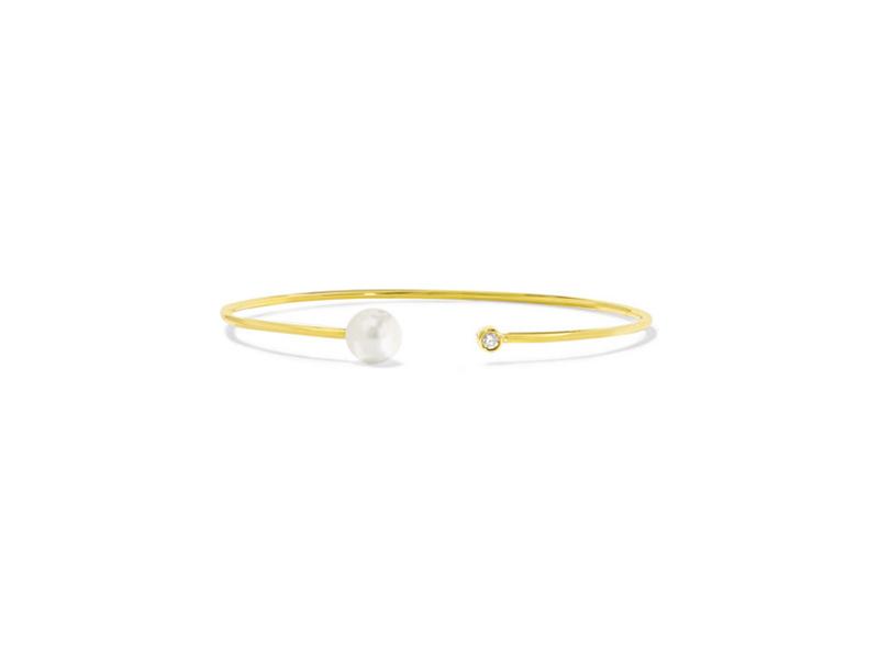 Jemma Wyne Pearl and diamond bracelet mounted on 18 karat gold - 1034€