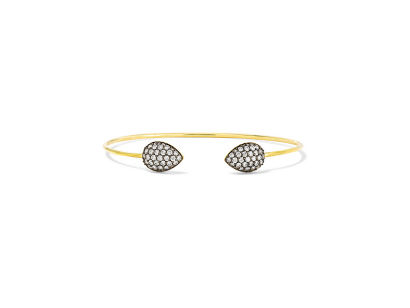 Jemma Wyne open bangle mounted on 18 karat gold diamond - 4327euros