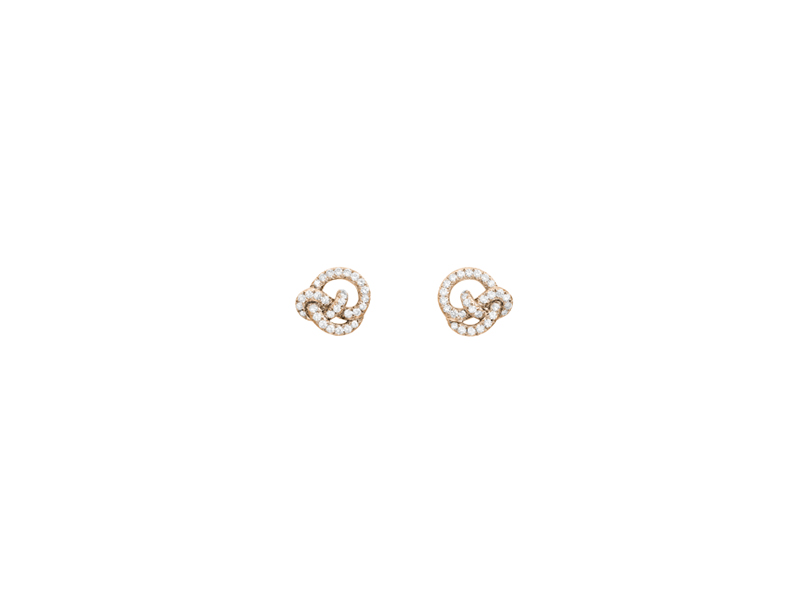Lorenz Baumer Pense à moi stud earrings small model - 3150 €