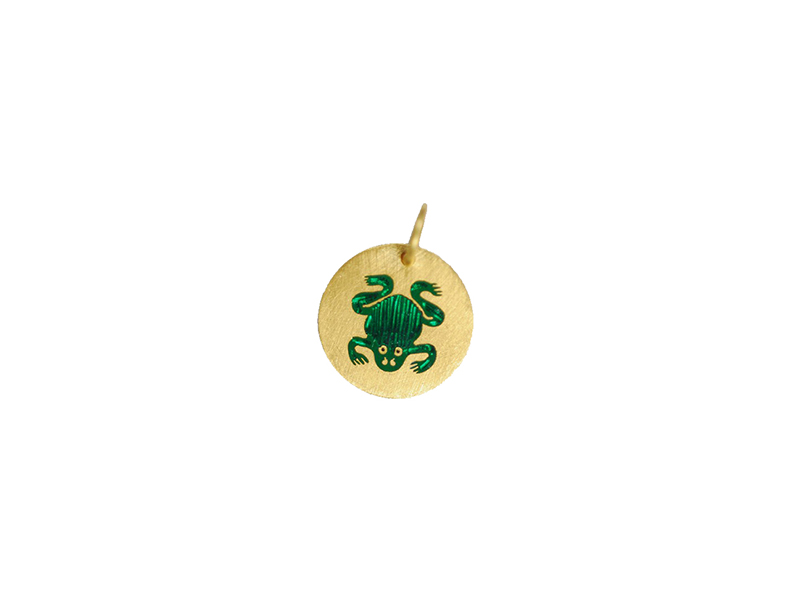 Marie-Hélène de Taillac Limited edition of handmade pendant mounted on yellow gold