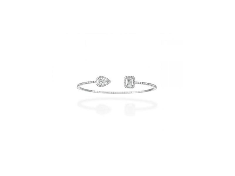 Messika mMy twin toi & moi bracelet mounted on white gold set with diamonds - 14600 chf
