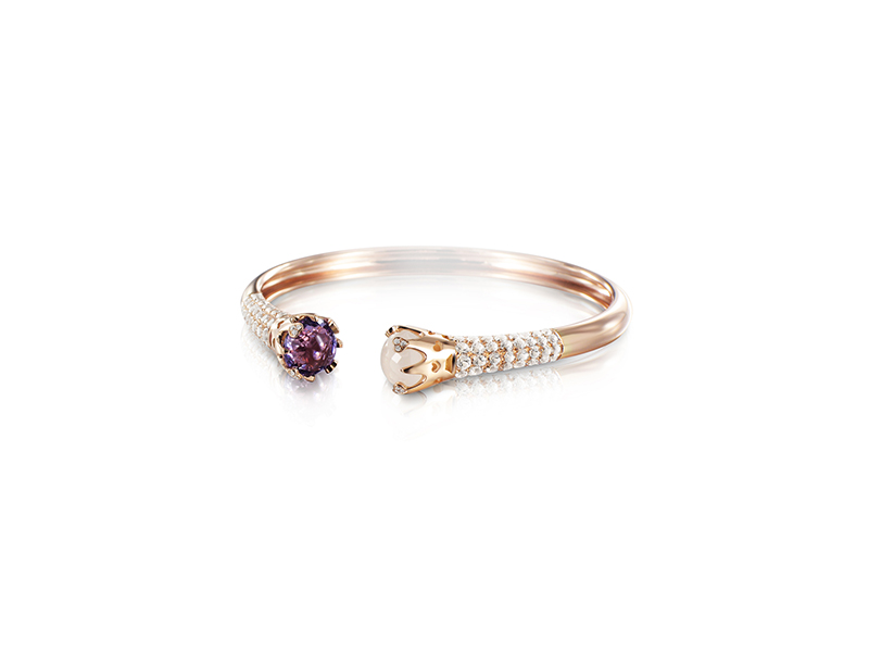 Pasquale Bruni Sissiioamo collection rose gold diamonds topaze and amethyst bangle