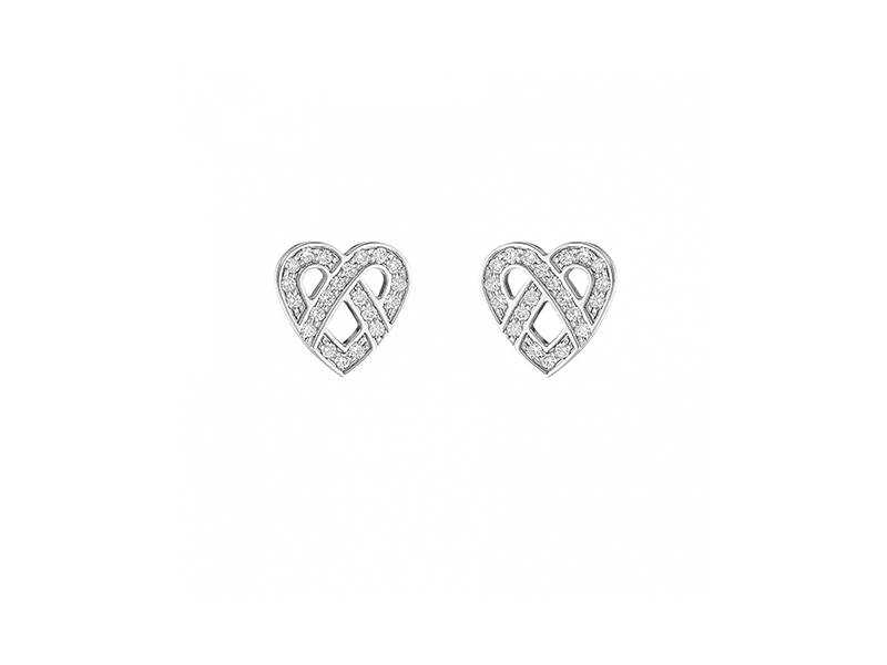 Poiray Earrings coeur fil