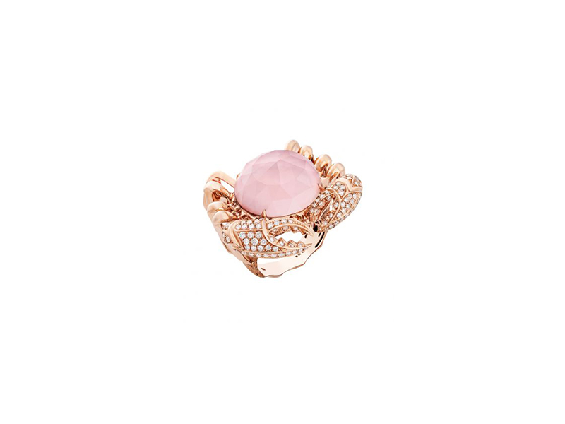 Stephen Webster Verne crab crystal haze ring mounted on rose gold - 10'050 $