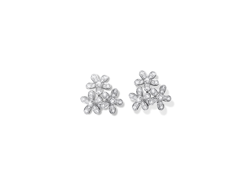 Van Cleef & Arpels Socrate earrings 3 flowers