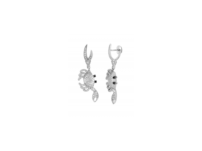 Yvonne Leon Crab earrings mounted on white gold with diamonds - 2'500 €